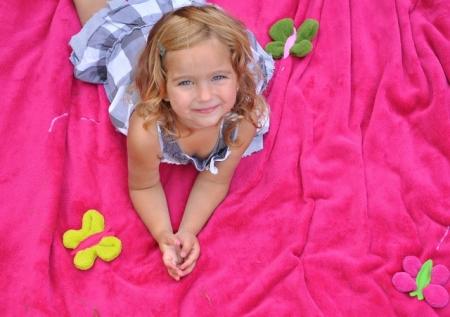 Pled dziecięcy Dark Pink Meadow