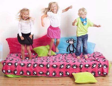 Pled dziecięcy Monkey Pink