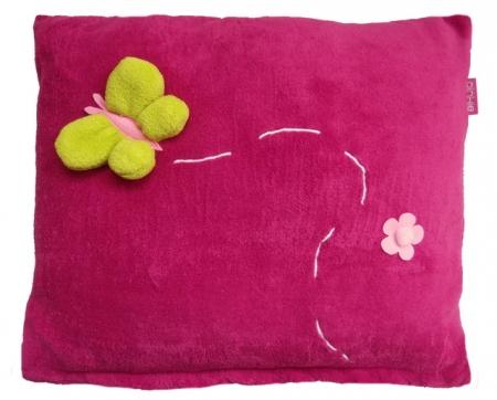 Poduszka Dark Pink Meadow-większa