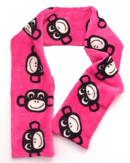 Szalik Monkey Pink
