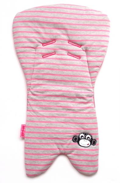 Wkładka do fotelika samochodowego Stripes Grey/Pink