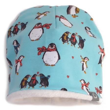 Czapeczka Turquoise Penguin