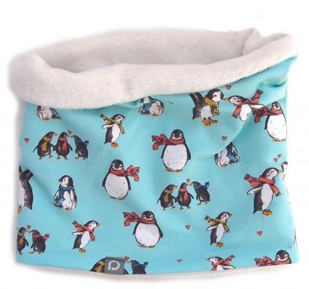 Szalik - tuba Turquoise Penguin