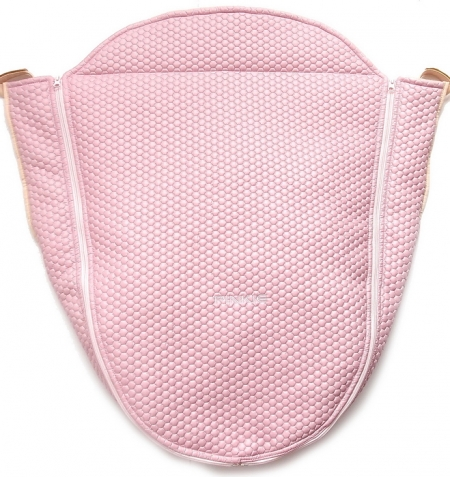 Ocieplane okrycie na nóżki Light Pink Comb