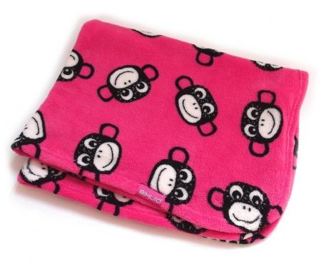 Kocyk Monkey Pink