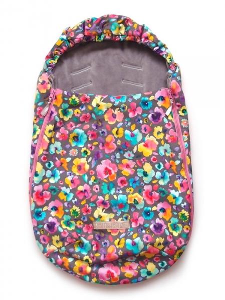 Śpiworek Pinkie Neon Flowers 0-12 miesięcy