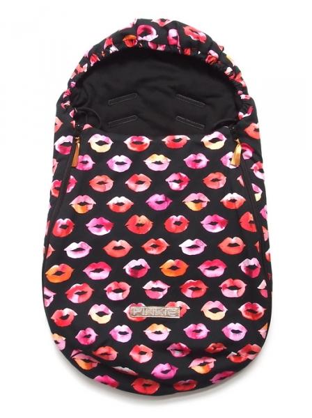 Śpiworek Pinkie Kiss Black 0-12 miesięcy