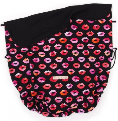 Koc ze ściągaczem Pinkie Kiss Black