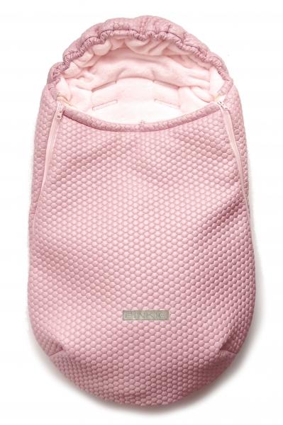 Zimowy śpiworek Light Pink Comb 0-12mies.