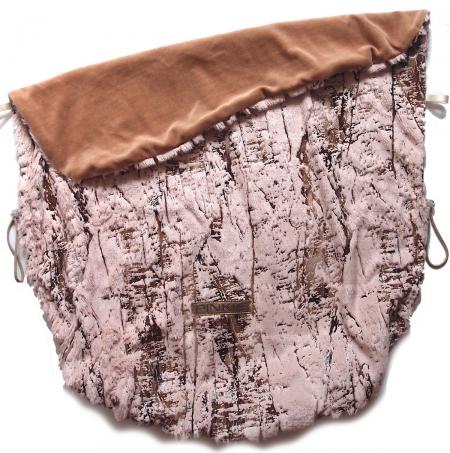 Koc ze ściągaczem Fur Gold Pink