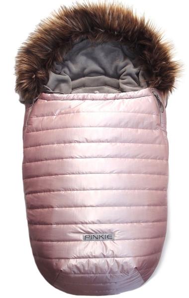 Śpiworek Pinkie Pink Line z futerkiem