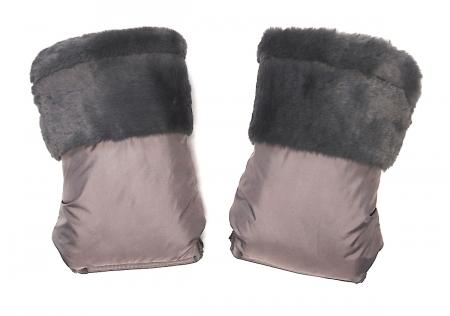 Rękawica do wózka Fur Grey