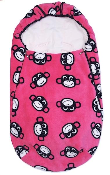 Wiosenno-jesienny śpiworek Monkey Pink