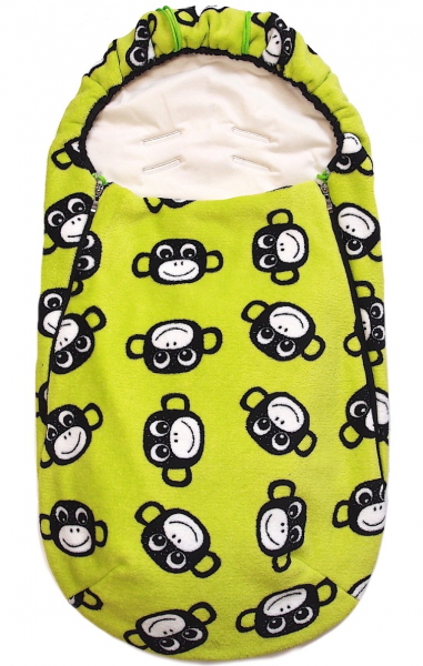 Wiosenno-jesienny śpiworek Monkey Green