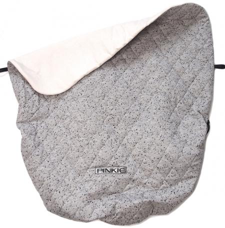 Koc ze ściągaczem Marble Grey Black BIO