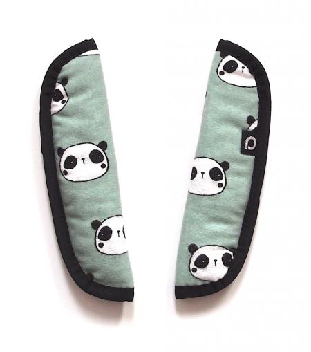 Osłonka na pasy do wózka Panda Mint