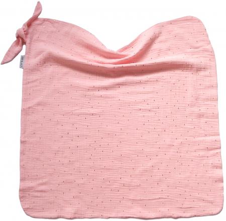 Kocyk na lato Pinkie Muslin Light Pink