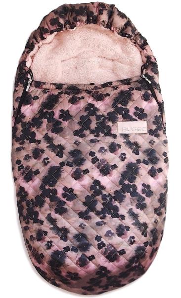 Śpiworek Pinkie Black Flowers