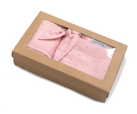 Zestaw podarunkowy Muslin Light Pink