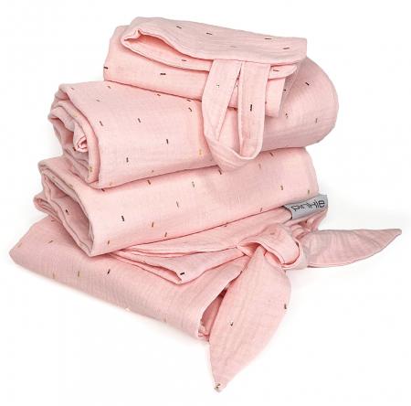 Zestaw Muslin Light Pink duży