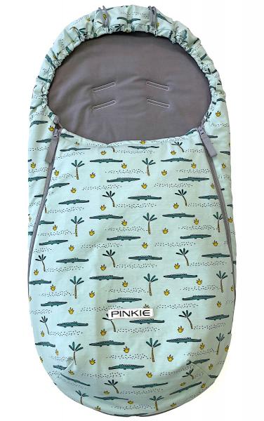 Przejściowy śpiworek Pinkie Crocodile BIO