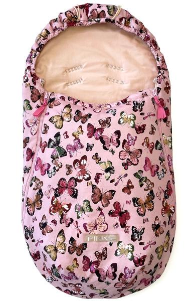 Przejściowy śpiworek Butterfly Pink BIO
