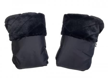 Rękawice do wózka Fur Black
