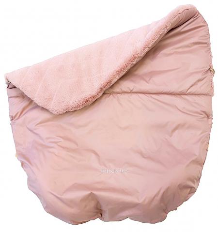 Ocieplany koc ze ściągaczem Pinkie Fur Pink