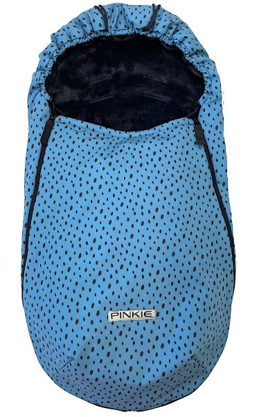 Przejściowy śpiworek Pinkie Softshell Dots Blue