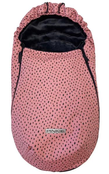 Przejściowy śpiworek Pinkie Softshell Dots Pink